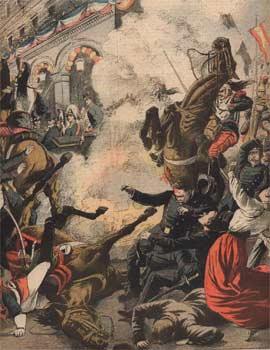 Ataque contra el Rey de España en Francia