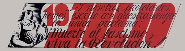 """proclamación de """"Tierra y Libertad"""" en julio 37"""