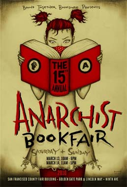 affiche de l'anarchist bookfair de San Francisco 2010