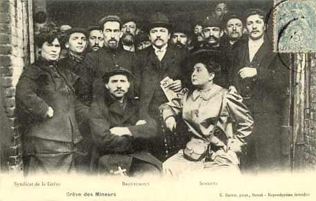 carte postale comite de grève des mineurs avec Broutchoux