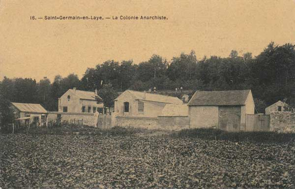 cpa de la Colonie Anarchiste de Saint-Germain-en-Laye
