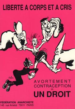 Cartel Cabu de anticonceptivos gratis