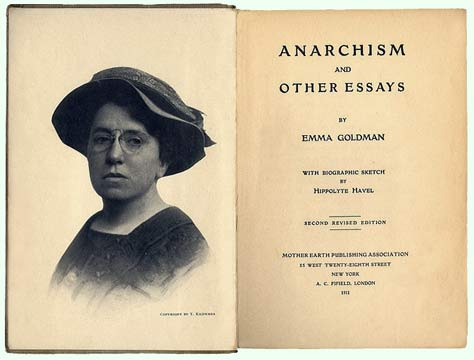 Anarchism and other essays goldman