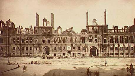 photo des ruines de l'hotel de ville
