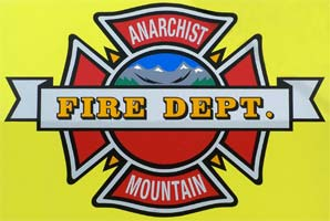 logo des pompiers d'Anarchist Mountain