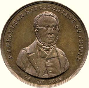 medaille Proudhon face
