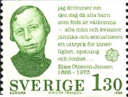 Sello sueco Elise Ottesen Jensen