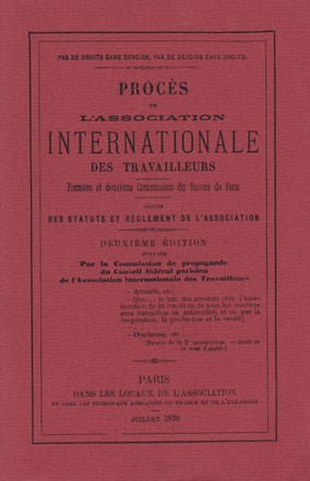 livre : Procès de l'Internationale