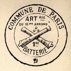 commune de Paris tampon 1e batterie