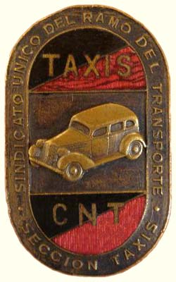 insigne section des Taxis de la CNT