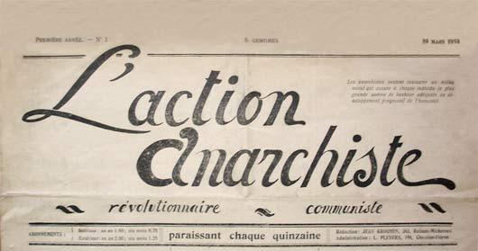"""periódico """"La Acción Anarquista"""" # 1"""