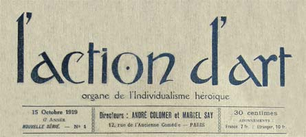journal l'action d'art