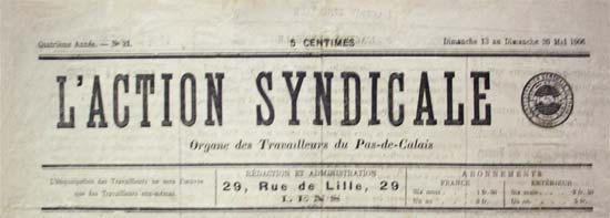 "journal ""L'Action syndicale"""