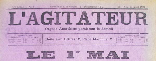 "journal ""L'Agitateur"" n8"