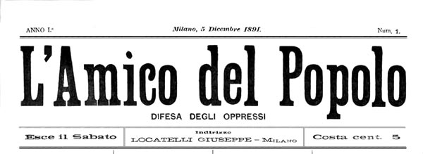 "journal ""L'Amico del Popolo"""