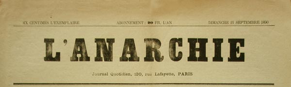 "Journal ""L'Anarchie"""