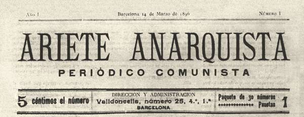 "journal ""Ariete anarquista"""