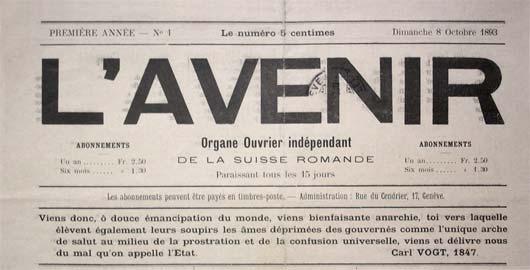 """Periódico suizo """"L'Avenir"""""""
