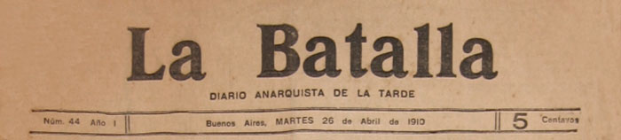 "journal ""La Batalla"""