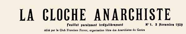 journal la Cloche Anarchiste