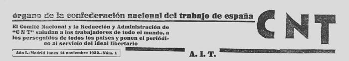 "journal ""CNT"" n1 de 1932"
