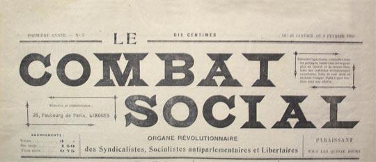 "periódico ""Le Combat Social"""