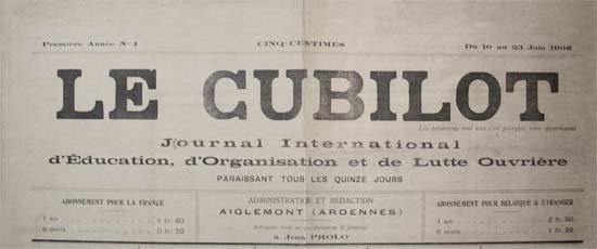 "journal ""Le Cubilot"" n°1"