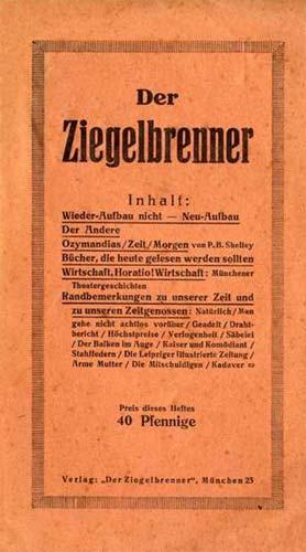 """revista """"Der Ziegelbrenner"""""""