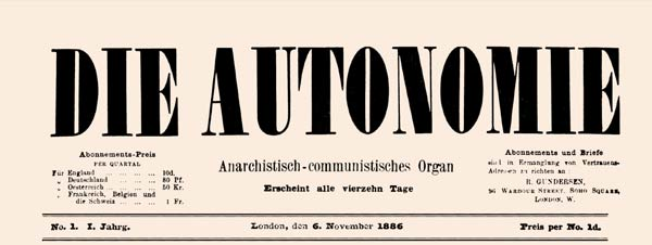 "journal ""Die Autonomie"" n1"