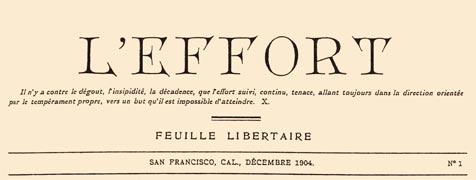 L'Effort, masthead December 1904