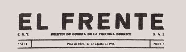 """periódico """"El Frente"""""""