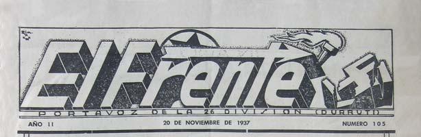 """periódico """"El Frente"""" N º 105"""