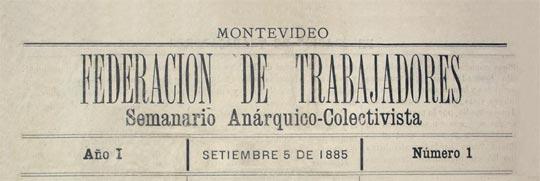 """Diario uruguayo """"Federación de Trabajadores"""""""
