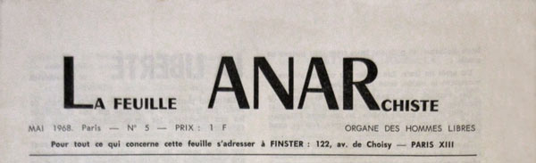 "journal ""La Feuille anarchiste"""