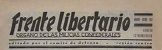 "journal ""Frente Libertario"" de 1936"
