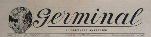 journal germinal italien publie a chicago