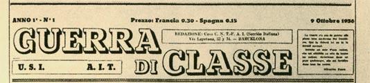 periódico Guerra di classe