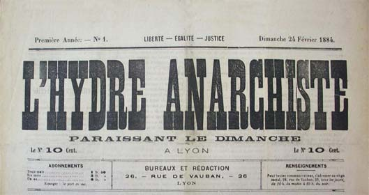 "journal ""L'Hydre anarchiste"""