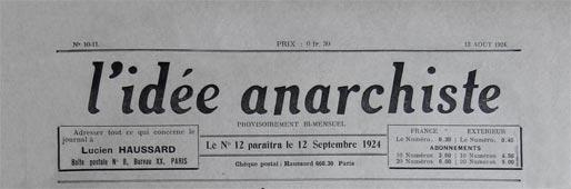 periódico idea anarquista