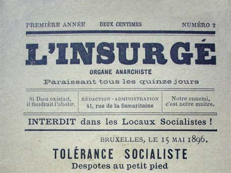 "journal ""L'Insurgé"" de 1896"