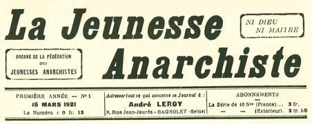 La Jeunesse Anarchiste