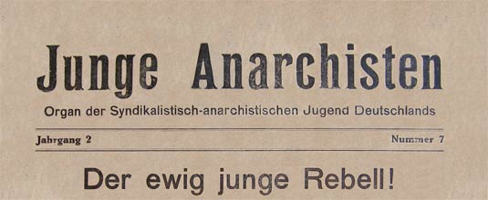 journal allemand junge anarchisten