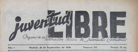 "journal ""Juventud Libre"" 1936"