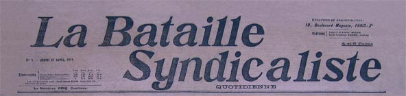 journal la bataille syndicaliste