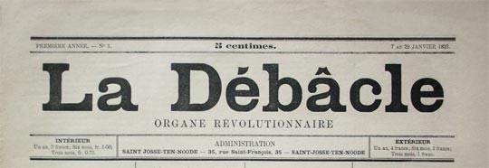"journal belge ""La Débacle"""