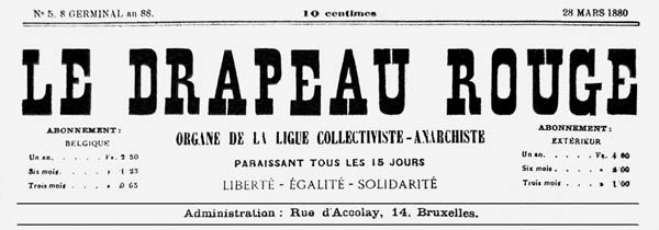 "journal ""Le Drapeau Rouge"""