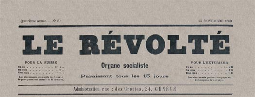 Le Revolte masthead; source anarchiste ephemeride