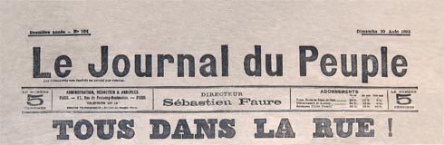 Le Journal du Peuple; source, courtesy l'Ephemeride anarchiste