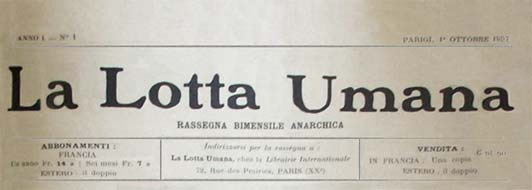 "journal ""La Lotta Umana"""