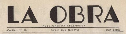 La Obra masthead, April 1951